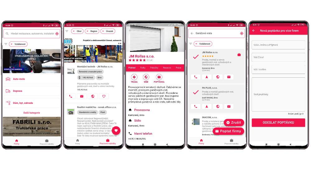 Mobilní aplikace Firmy v dosahu